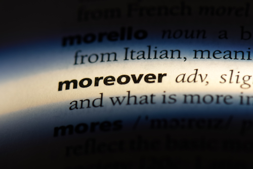 how to punctuate moreover, therefore, however in a sentence